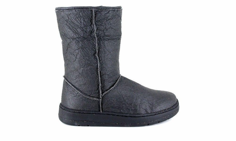 81f34b87d752 Veganer Damenstiefel   VEGETARIAN SHOES Snug Boot Pineapple Black ...