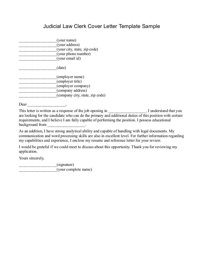 Urban Pie » Cover Letter Of Law Clerk Technical Report Writing ...   Legal  Letter Sample