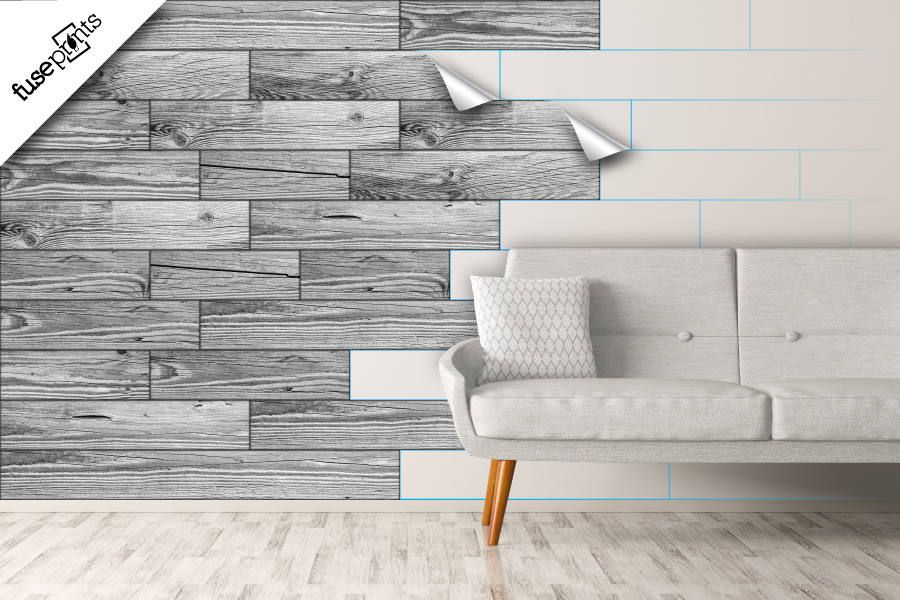 WHITE WOOD VINYL Decal Kit - Peel and Stick Vinyl Wall - diy wall stickers -  sc 1 st  Pinterest & WHITE WOOD VINYL Decal Kit - Peel and Stick Vinyl Wall - diy wall ...