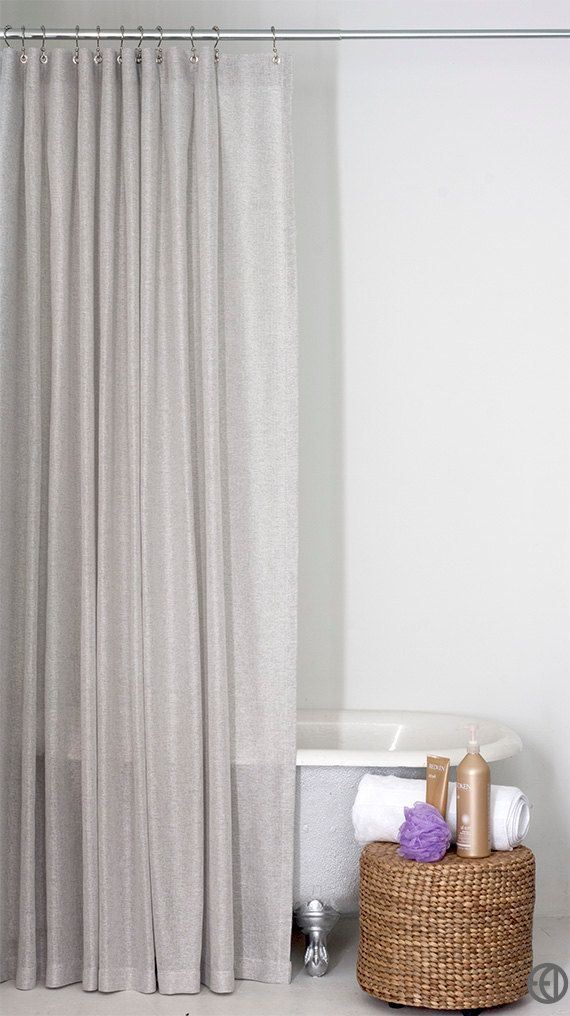 Light Grey Shower Curtain In Standard And Extra By Emilyellingwood
