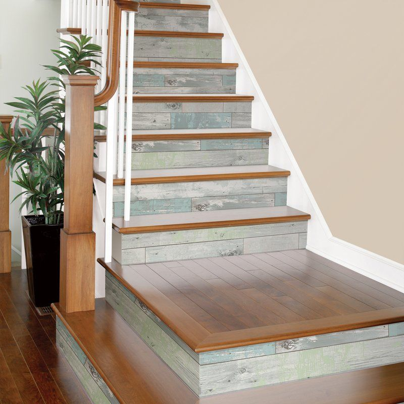 Wooden Stairs With Painted Stripes Updating Interior: Pin On Stairs And Wall Decor For Stairs