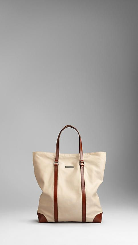 Burberry Cotton Gabardine Tote Bag