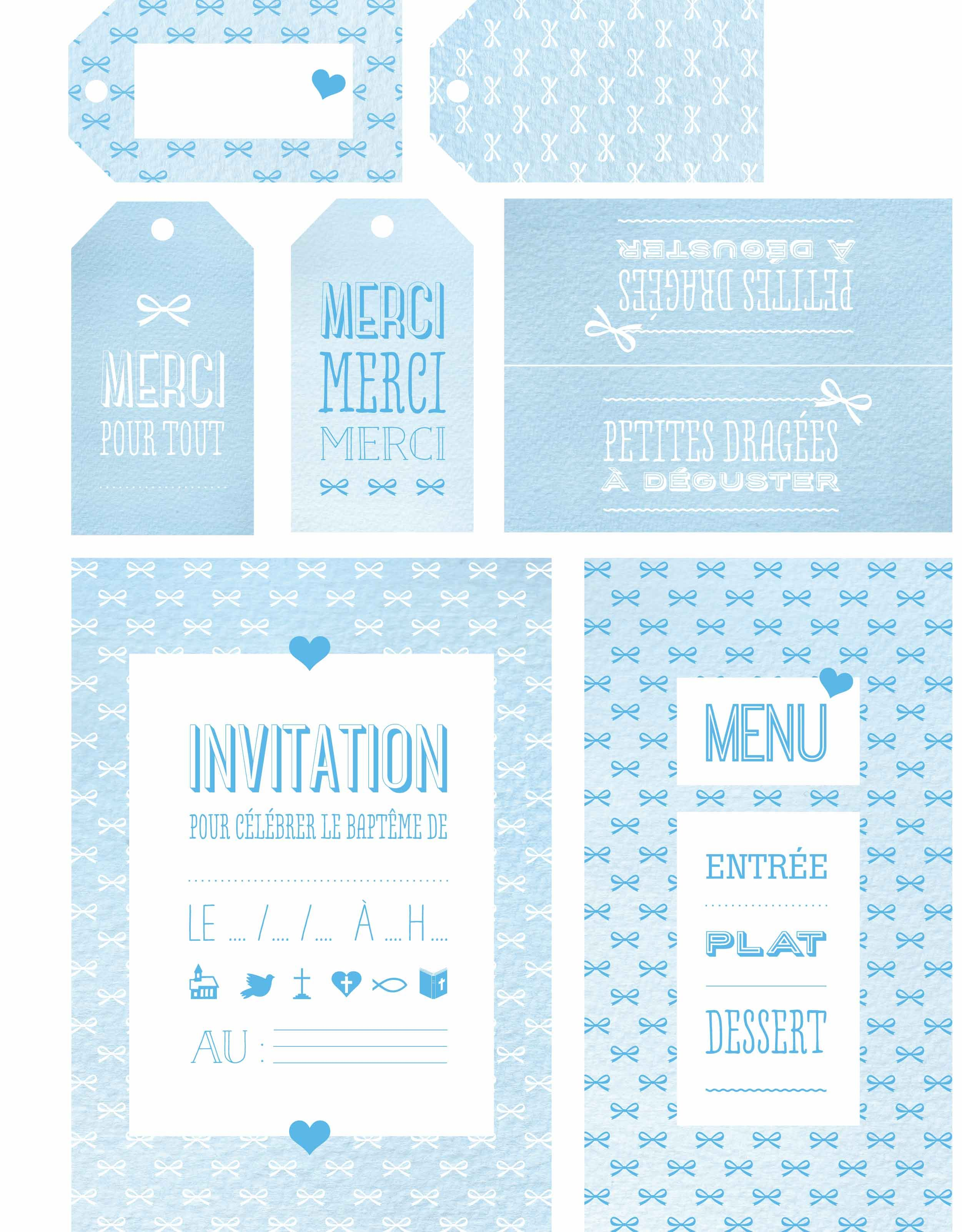 bapt me nos cartes d invitation bricolage pinterest etiquette bapteme minis et bleu. Black Bedroom Furniture Sets. Home Design Ideas