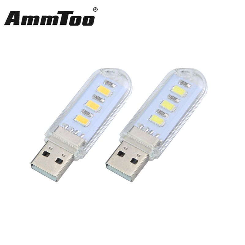 Mini Usb Led Lamp Book Lights 3 Leds 5730smd 1 5w Camping Light