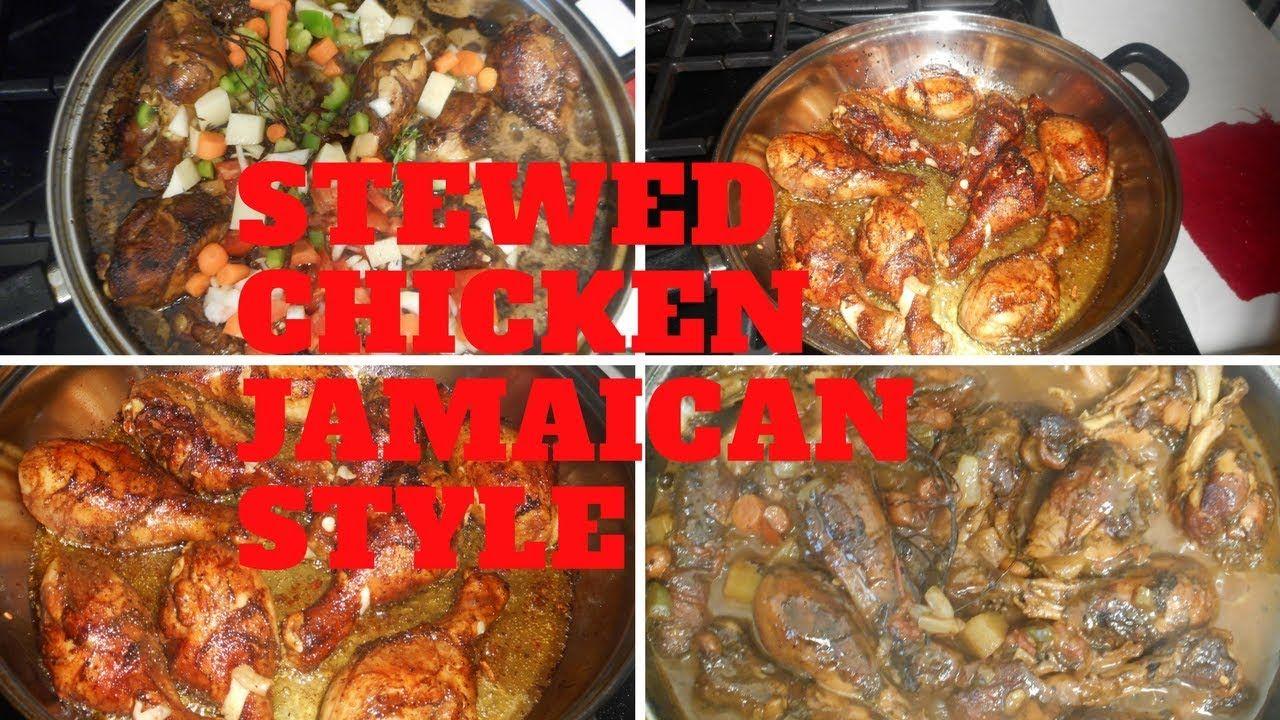 brown stewed chicken jamaican style jam beauty  brown