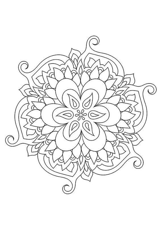 Mandala Coloring Page Printable Zen Coloring Page Doodle