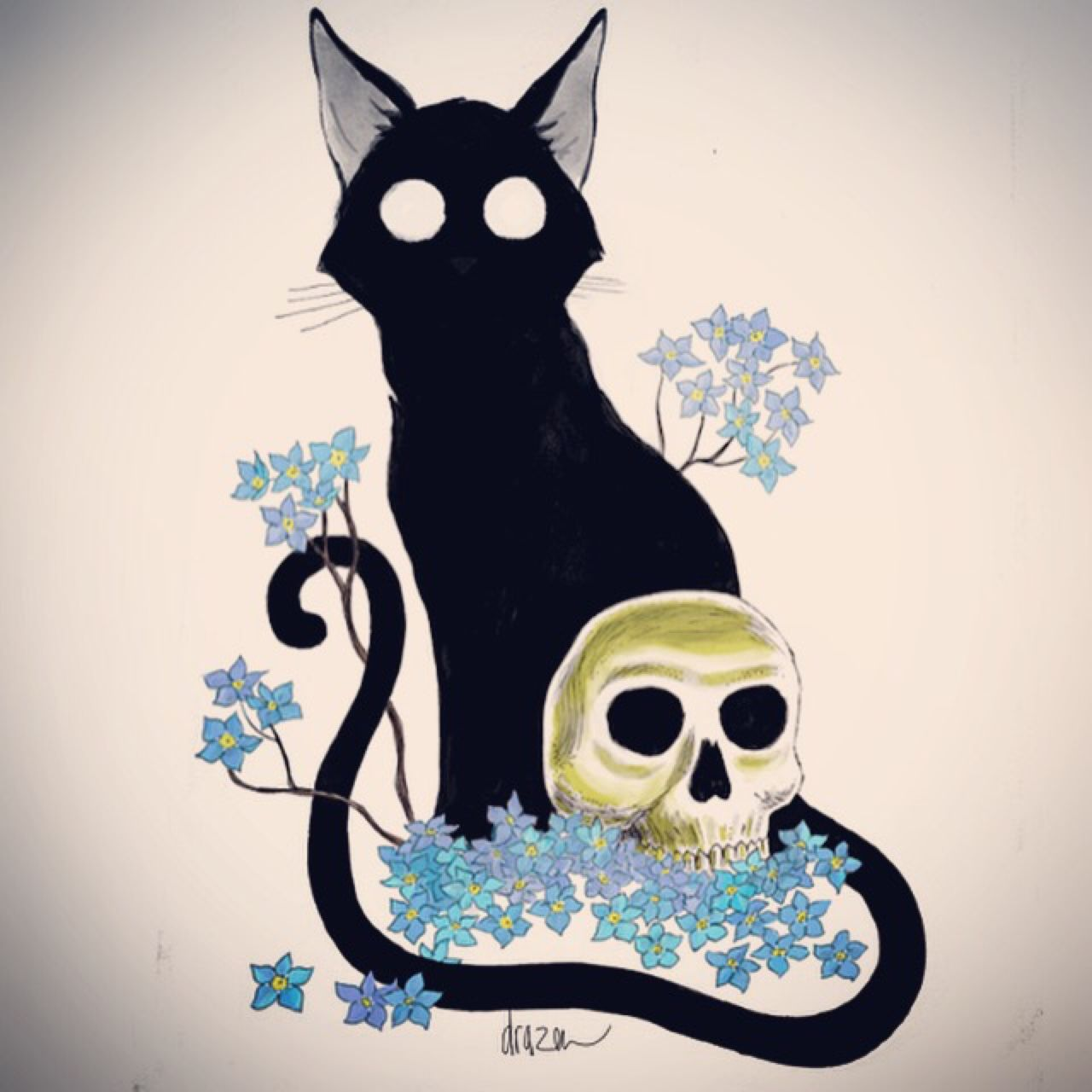 The Happy Undertaker in 2019 Cat art, Art, Cats