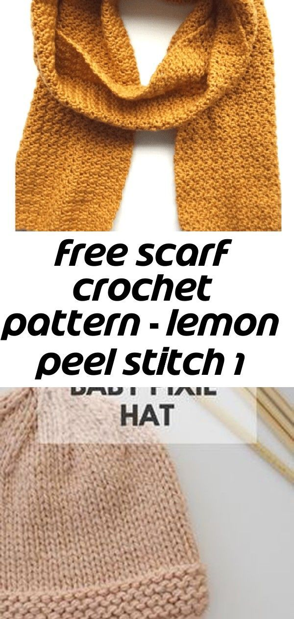 Free scarf crochet pattern - lemon peel stitch 1 Free scarf crochet pattern - lemon peel stitch 1 F