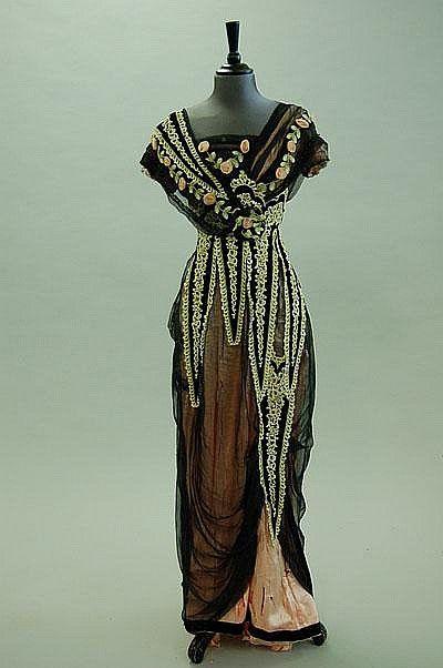 Abiti Da Sera 1912.Evening Dress Ca 1912 1900 1918 Abiti Vintage Vestiti E