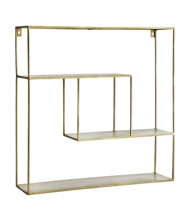 Brass Quadratic Shelf Unit Wall Shelves Brass Shelving Wall