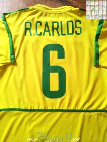 b094e79fa39 Relive Roberto Carlos s 2002 2003 international season with this original  Nike Brazil home football shirt.