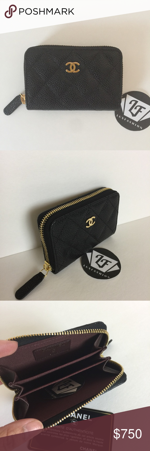 db4da94c52bf Authentic Chanel Classic Card Holder O Coin Purse Brand New Chanel Zip  Around Small Wallet