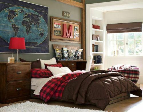 Dormitorio para chicos adolescentes Dormitorios para chicas - Decoracion De Recamaras Para Jovenes Hombres