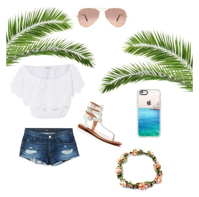 """""""Summer"""" by fabfashionindya ❤ liked on Polyvore featuring French Connection, Miguelina, 3x1, Casetify and Ray-Ban"""