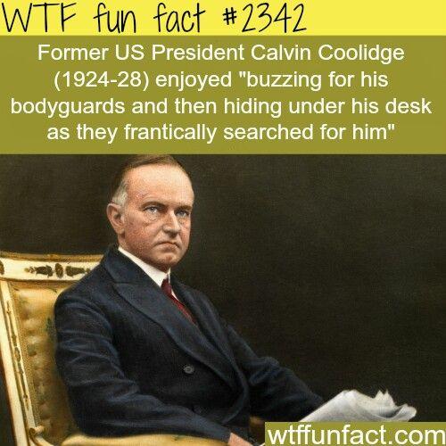 You go Calvin Coolidge