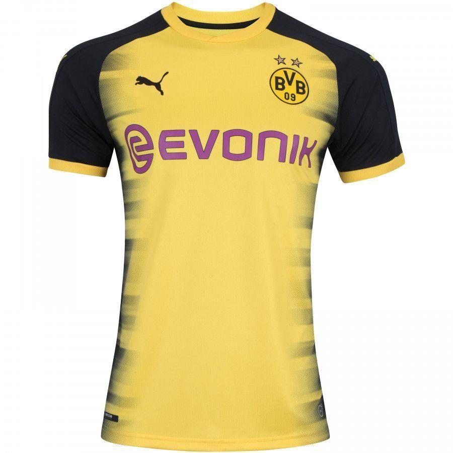 Camisa Borussia Dortmund Third 17 18 - Torcedor Puma Masculina - Amarelo e  Preto 37fdcb9ef842f