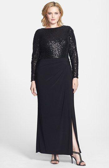 Lauren Ralph Lauren Embellished Bodice Jersey Gown Plus Size Avail