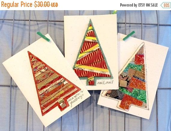 ON SALE Holiday Greeting CardsChristmas Card by LittleBirdDePapel