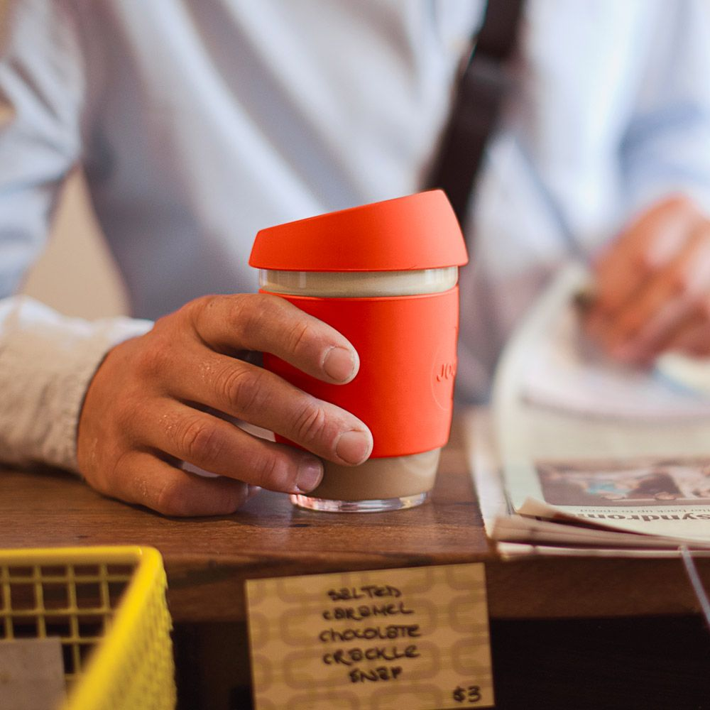 design trifft nachaltigkeit coffee to go becher aus aus glas von joco blissany loves pinterest. Black Bedroom Furniture Sets. Home Design Ideas