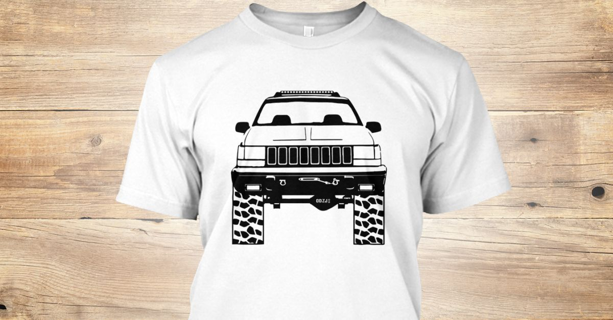 Discover Jeep Zj 8 Slot Grill T Shirt A Custom Product Made Just