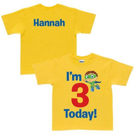 Personalized Super Why! Birthday Yellow Toddler T-Shirt, Toddler Unisex