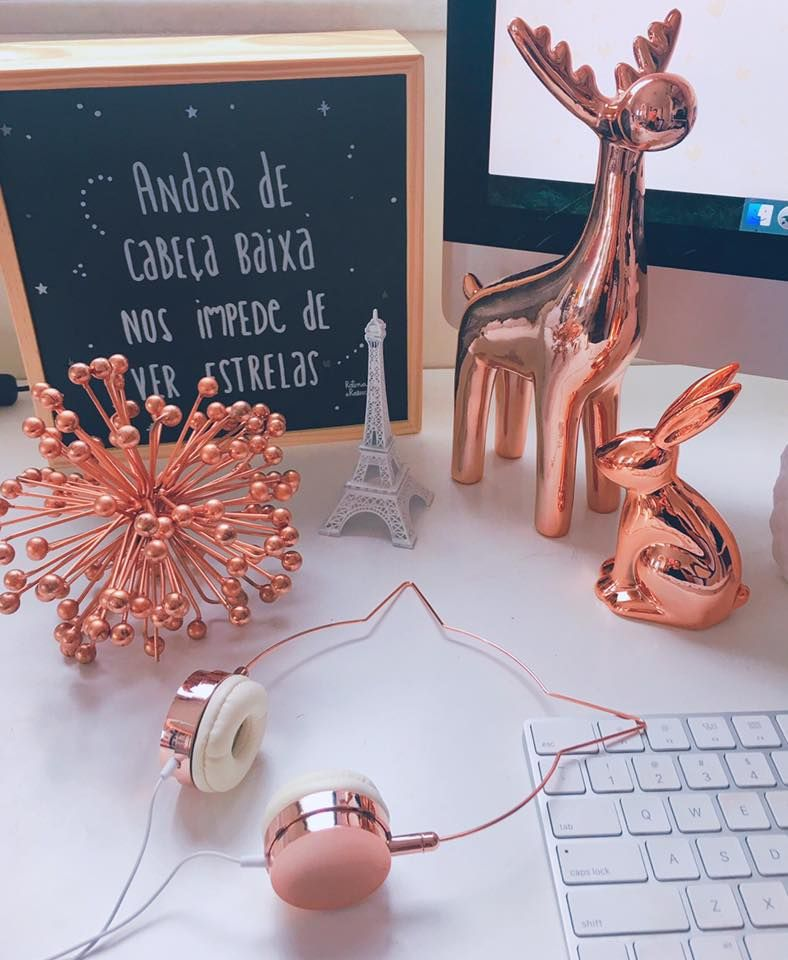 Rose gold inspired for Deko rosegold