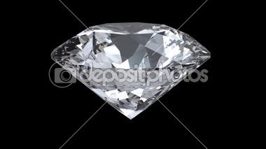 Laço de diamante girando em fundo preto — Vídeo de Stock