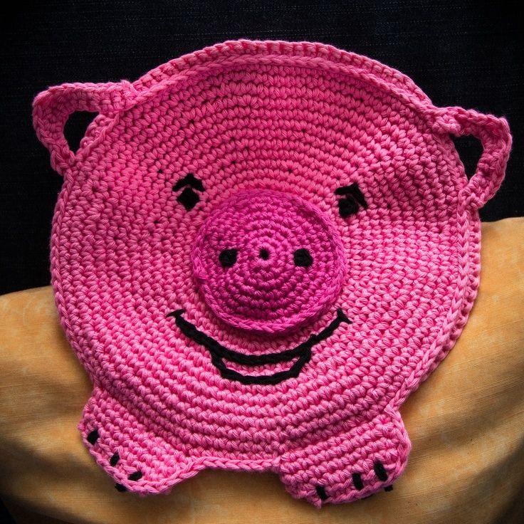 Crochet Pig Potholder Pig Potholder No Pattern Oink Oink