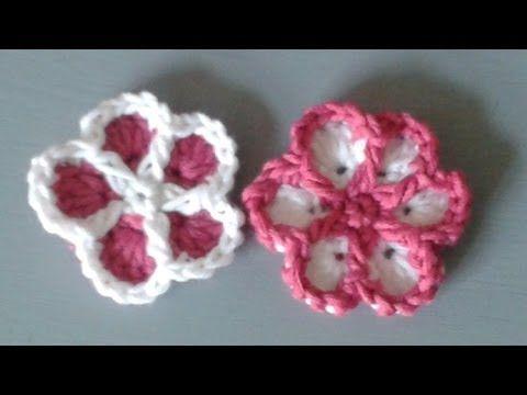 ▷ Bunte Blumen häkeln - Anleitung - YouTube | scarf crochet easy ...