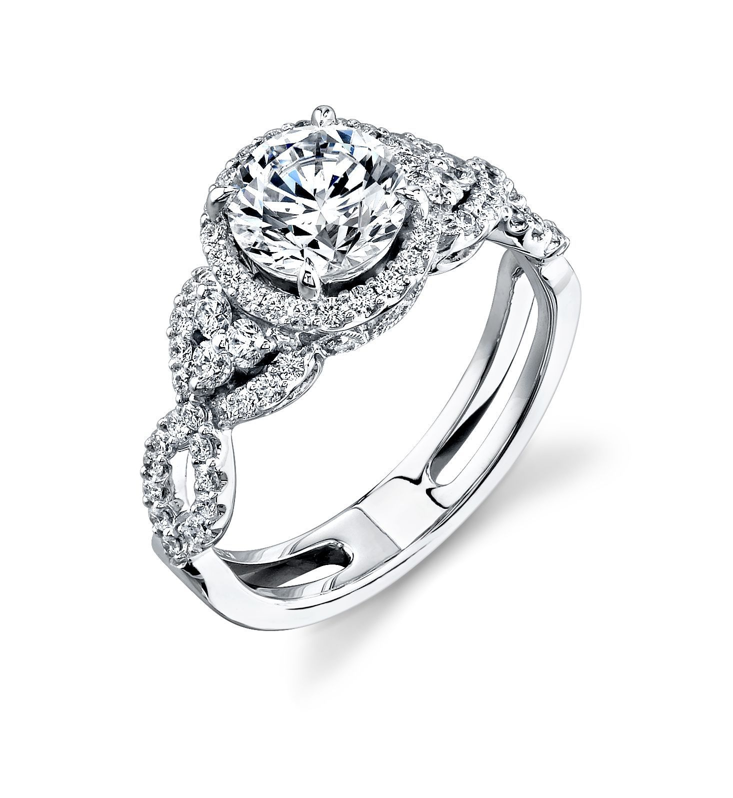 Vintage inspired wedding rings vintagestyle simon g halo