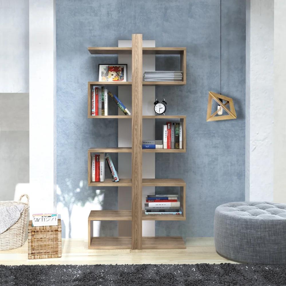 Decorotika Ionis 5 Ft Modern Floating Symmetrical Cubic Bookshelf
