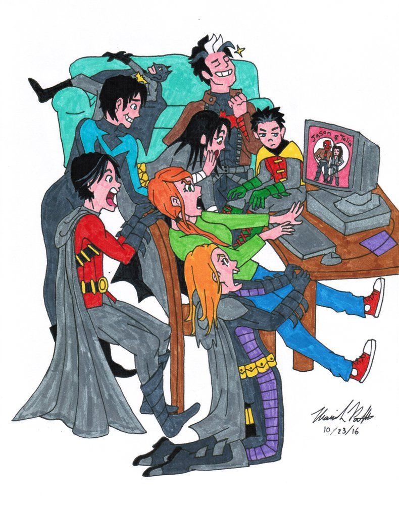 Draw the Squad: Batfamily edition by mp1011007 deviantart com on
