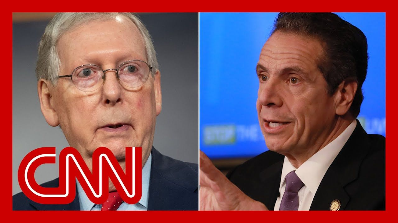 Gov Cuomo Slams Mcconnell New York Bails You Out Youtube In 2020 Governor Documentaries Andrew Cuomo