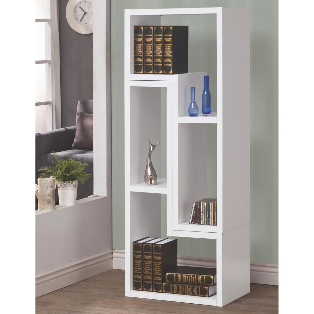 Venetian Worldwide Milz White Bookcase V 800330 Bookcase Shelves Contemporary Bookcase