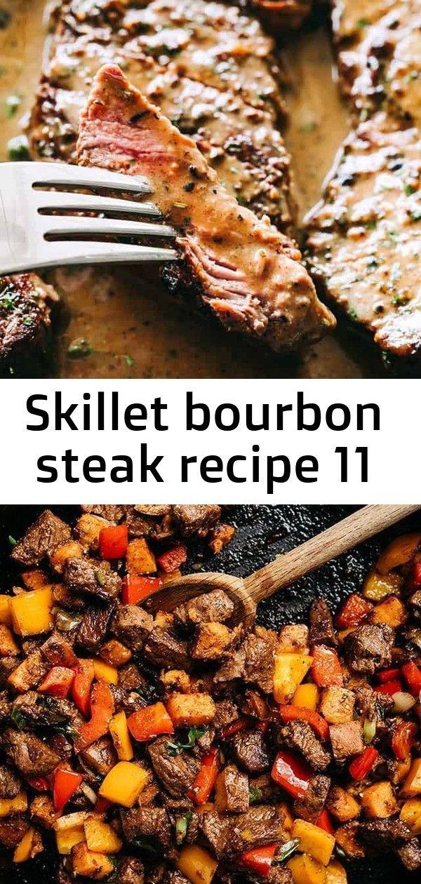 Skillet bourbon steak recipe 11 Skillet Bourbon Steak Recipe  Pan seared juicy sirloin steaks prepared with a dijon mustard rub and an incredible creamy bourbon sauce A o...