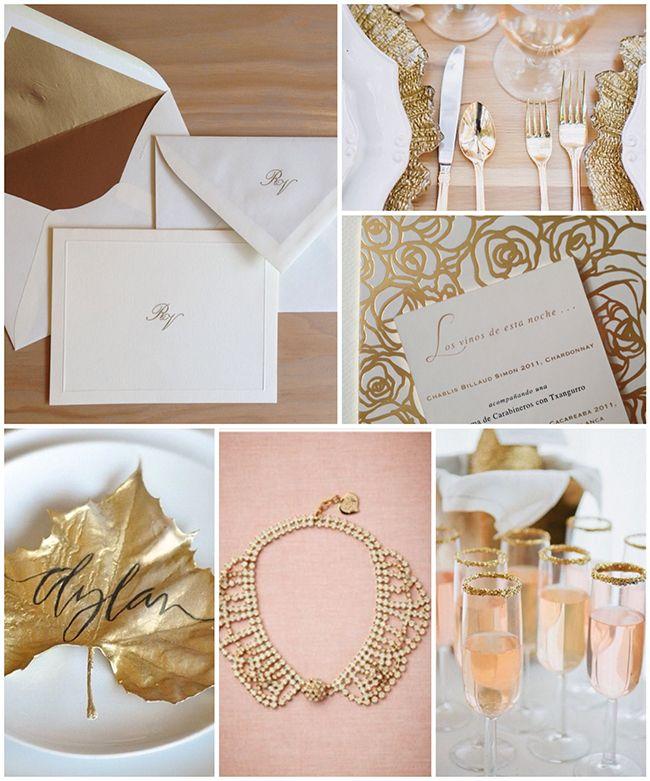 Una boda muy chic! Oro, Rosa pálido y Maderas