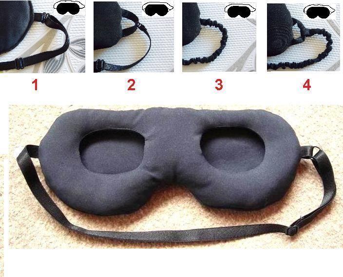 3D EYE SHADE NEW SOFT PADDED SLEEP MASK WITHOUT TOUCHING EYES />PREMIER QUALITY/<