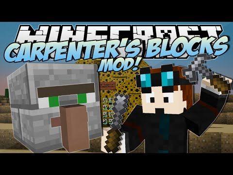 Minecraft | CARPENTER'S BLOCKS MOD! (Trayaurus' Cheese House!) | Mod