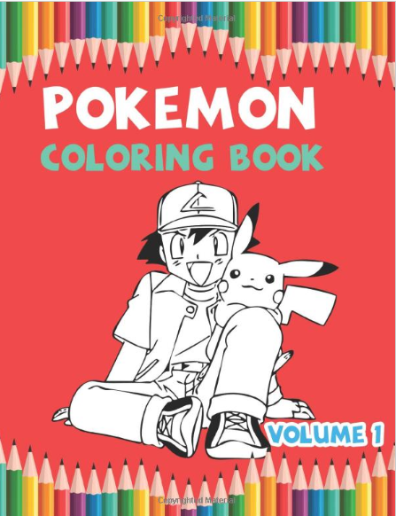 Pokemon Coloring Book Volume 1 Best Coloring Book Gifts For Kids Ages 4 8 9 12 Coloring Books Amazon Coloring Books Coloring Books Gifts