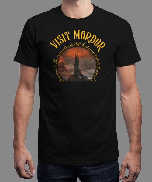 """Visit Mordor"" is today's £9/€11/$12 tee for 24 hours only on Pin this for… 