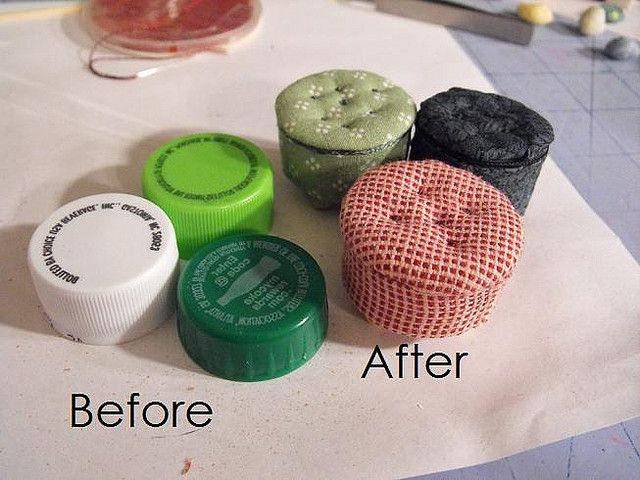 Bottle Cap Footstools #dollfurniture