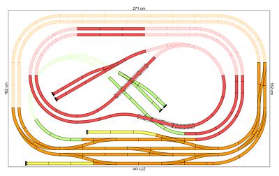 Set 2,7 x 1,6 m Piko H0 A-Gleis Gleisplan für Anlage und Gleisset HO