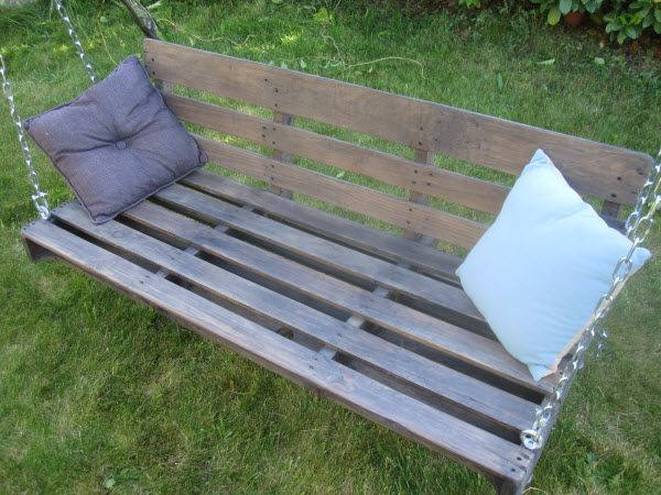 Complete Pallet Garden Set Pallet Ideas 1001 Pallets: Garden Swing Armchair Made With Upcycled Pallet