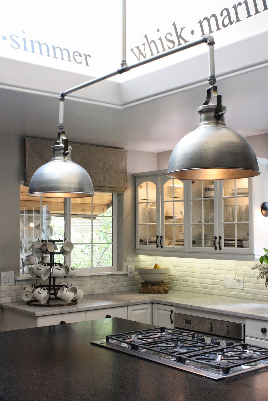 Welcome To This Weeks Linky Party You Know I Love This Day Of The Week Where All Industrial Style Kitchen Industrial Kitchen Lighting Modern Kitchen Lighting