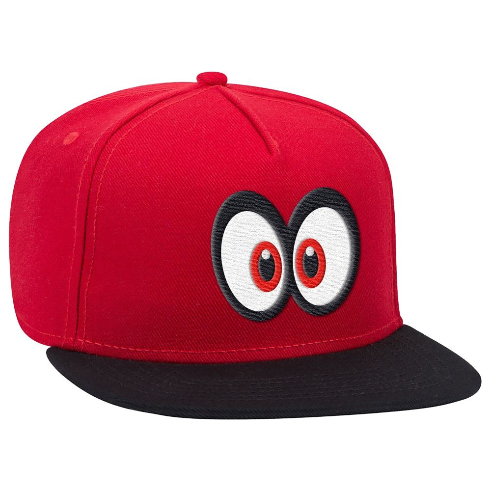 Super Mario Cappy Eyes Brimmed Hat  RedBlack Size Osfm Gender Unisex Age Group Kids Pattern Product logo Material Acrylic Super Mario Cappy Eyes Brimmed Hat  RedBlack Kid...