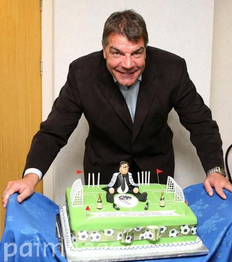 Bolton Wanderers manager Sam Allardyce celebrates his birthday with