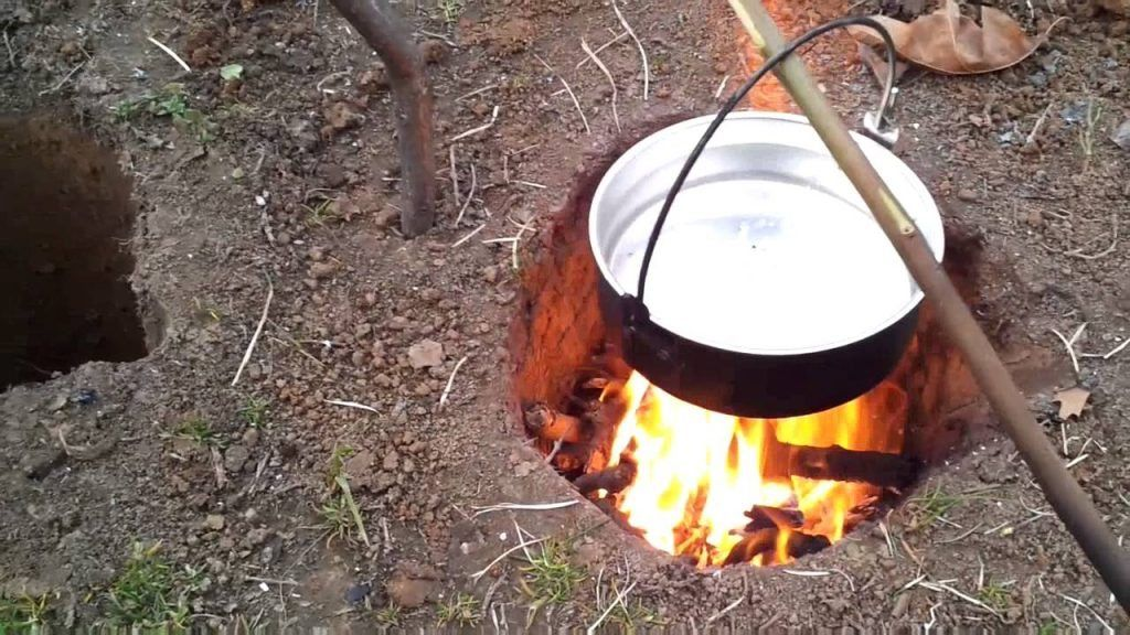 How To Build A Fire Using The Dakota Fire Hole