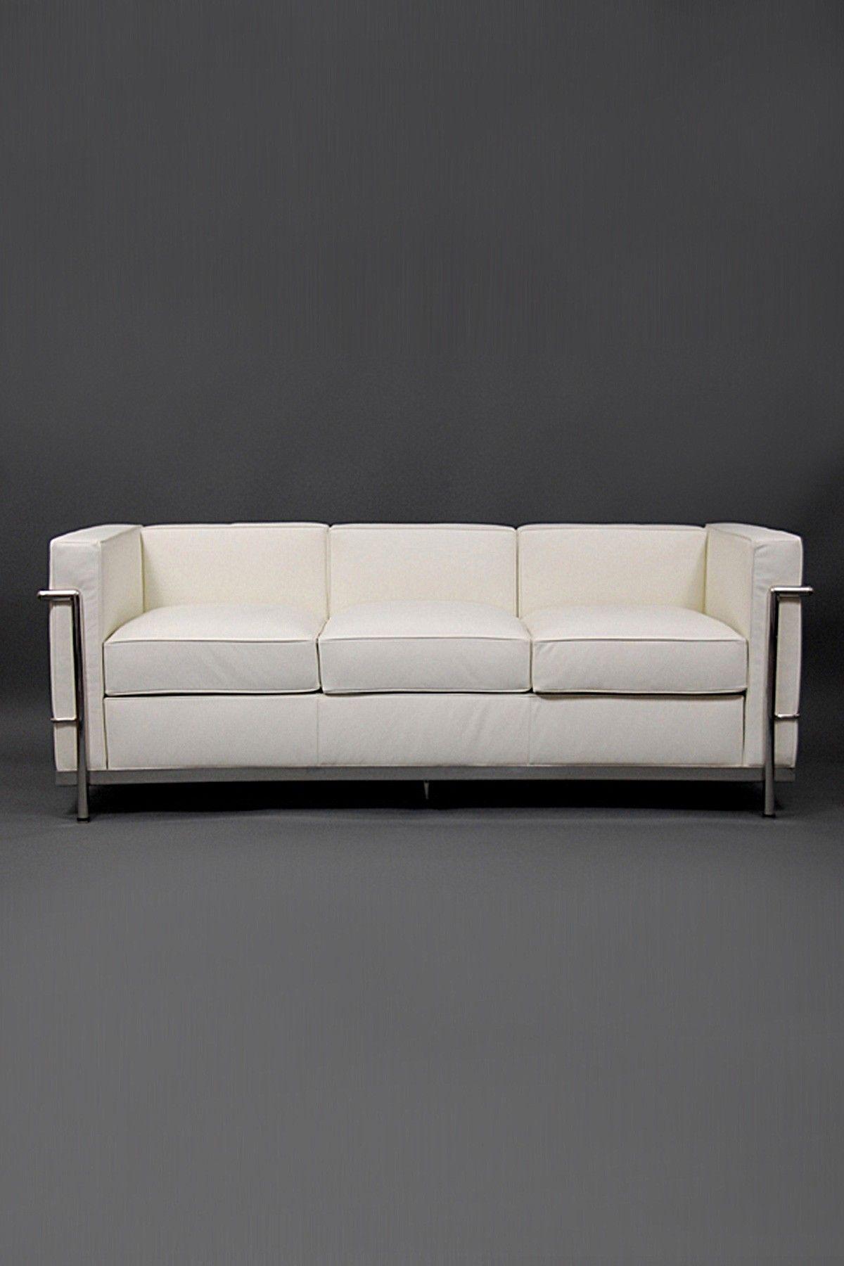 Terrific California Modern Classics Lc2 Le Corbusier Couch White Machost Co Dining Chair Design Ideas Machostcouk
