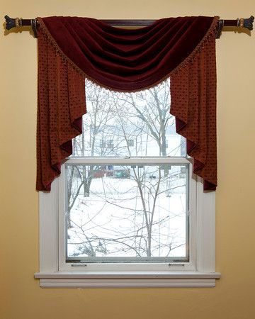 Pictures Of Swag Curtain Styles Pole Swag And Jabot Valance The Pole Swag And Jabot Valance