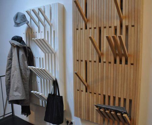Вешалки для прихожей настенные деревянные фото